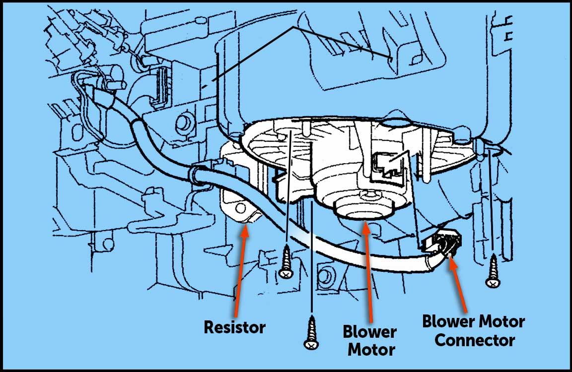 Honda Fit blower motor fast high 2009 2010 2011 2012