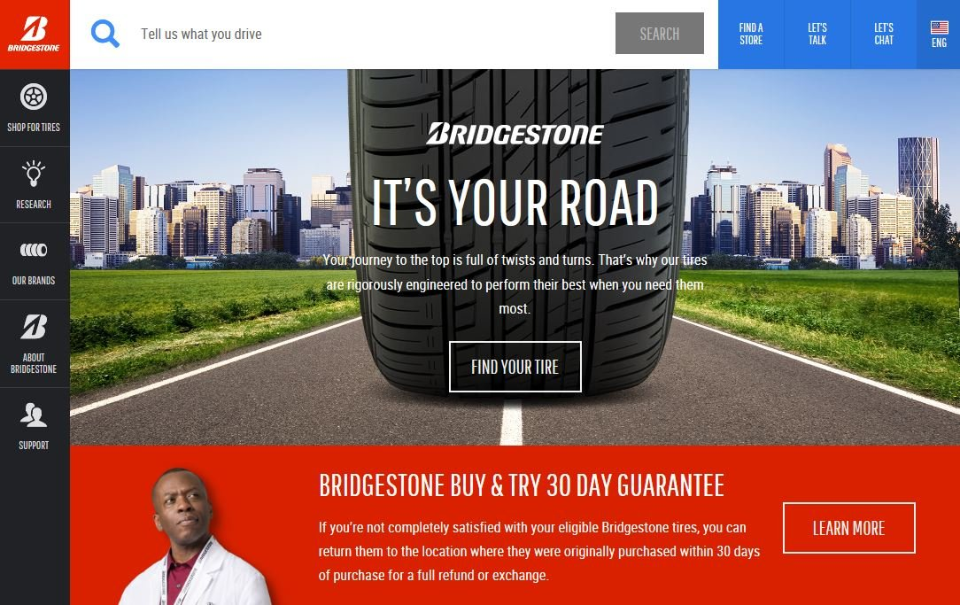 Bridgestone-brand-pass/LT-tire-site-redesigned