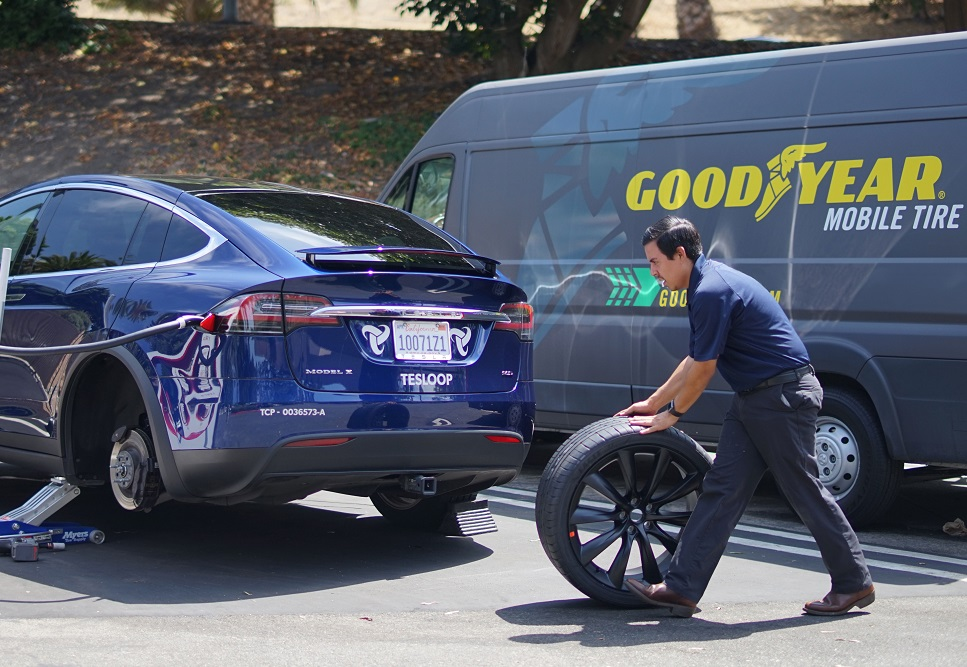 Mobile Tire Service >> Goodyear Testing Mobile Tire Service In Calif N C