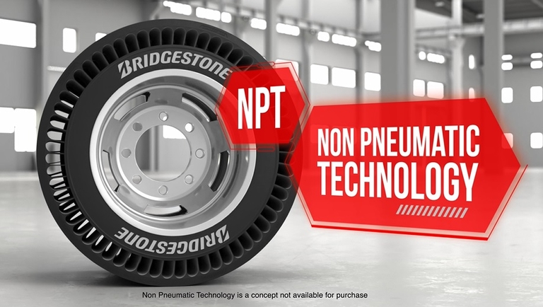 Bridgestone targeting trailer position with air-free truck tire concept