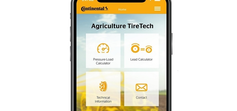 Conti offering ag tire pressure/load calculating app