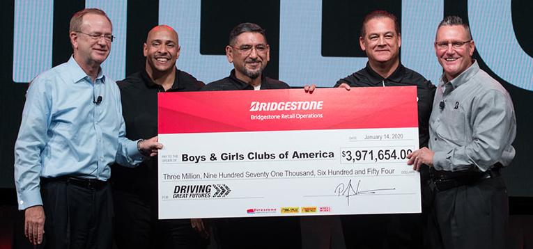 Bridgestone Retail raises nearly $4M for Boys & Girls Clubs