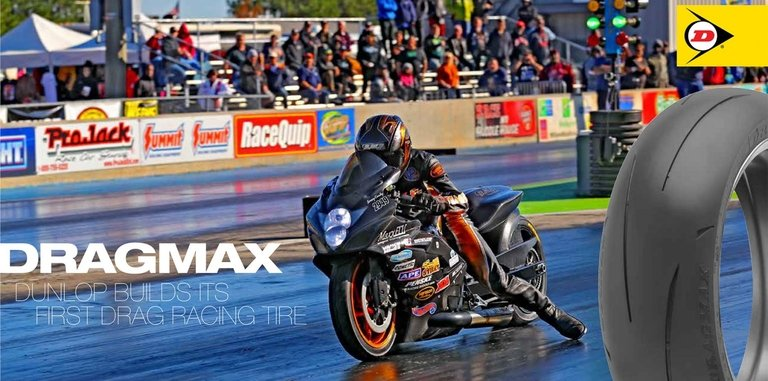 Dunlop adds drag-racing tire to motorcycle motorsports portfolio