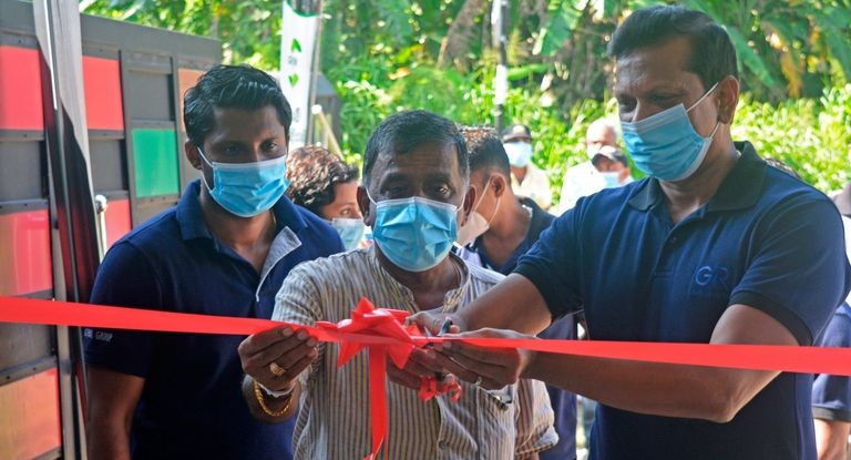 GRI unveils rubber collection center in Sri Lanka