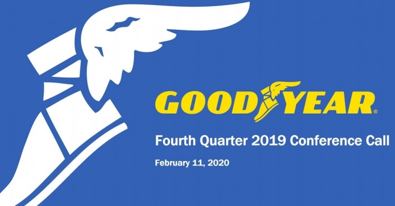 Goodyear, sales earnings down; firm posts fiscal 2019 net loss