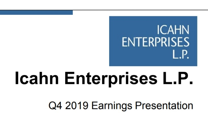 Icahn Enterprises reports $1.1B fiscal 2019 net loss on 8% lower sales