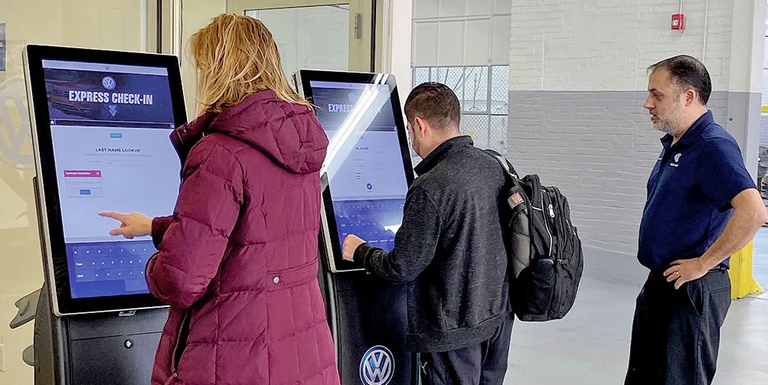 Service departments experimenting with service kiosks