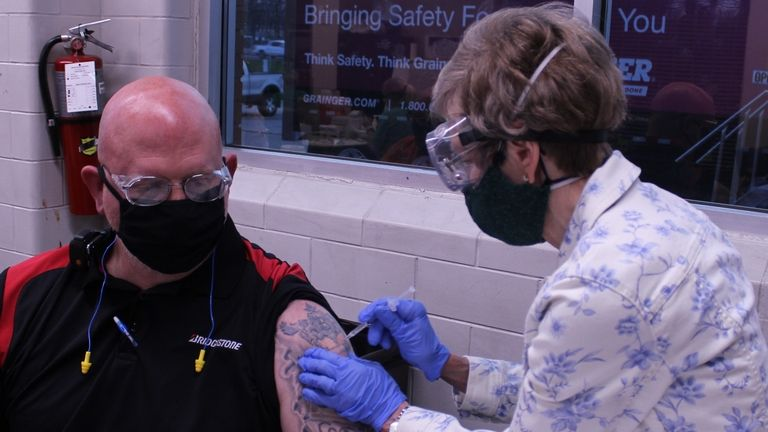 Bridgestone hosts vaccination events for plant employees