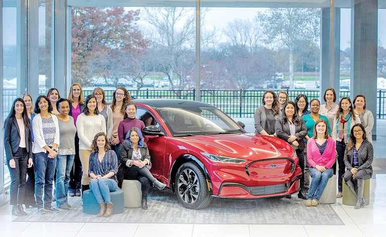 Women comprise a third of the technology team on Ford's Mach-E