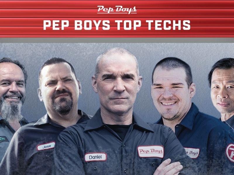 Pep Boys names 5 ''top techs''