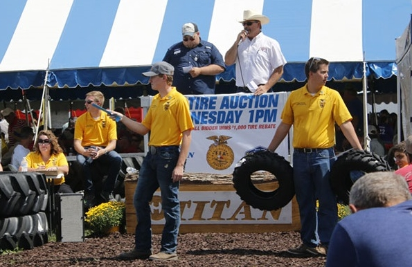 Titan Tire auctions raise $82,000 for FFA chapters