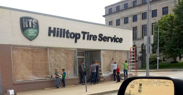 Iowa tire shop sustains damage during protest